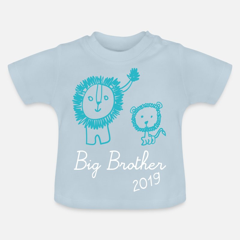 Model  Babykleding - Leeuw Big Brother Big Brother 2019 T-shirt - Baby T-shirt lichtblauw