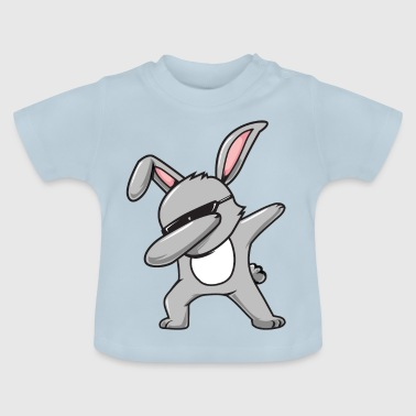 Leuke hiphop betoverende bunny Happy Easter Eggs - Baby T-shirt