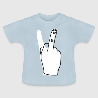 Giving the finger - Sarcastic Provocative - Baby T-Shirt
