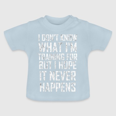 Workout Grappige workout workout sport van de traininggift - Baby T-shirt