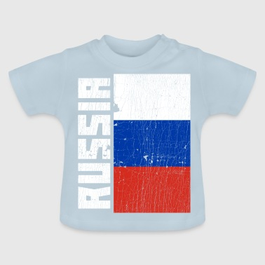 Russia Flag Country Coat of Arms Distressed Gift - Baby T-Shirt