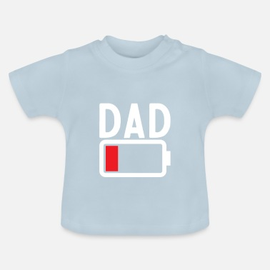 Søn Funny Low Battery Far far og søn gave - Baby T-shirt