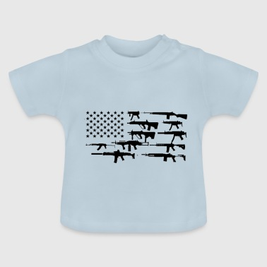 American flag with rifle - Baby T-Shirt