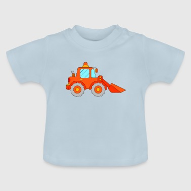 Rote Bagger Bagger orange rot - Baby T-Shirt