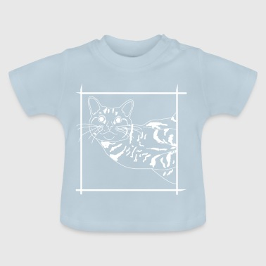 crooked grin give cat to friends - Baby T-Shirt