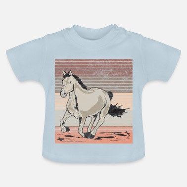 Galop Horse galop Used look retro - Baby T-shirt