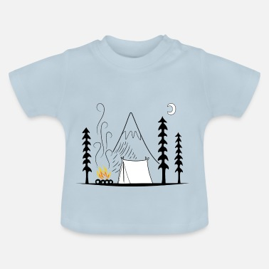 Moeder camping - Baby T-shirt