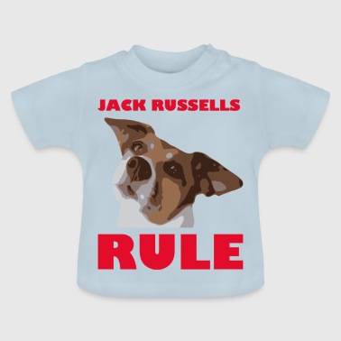 Jack russels rule2 red - Baby T-Shirt