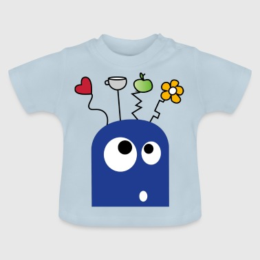 Blaues Monster für Kinder - Baby T-Shirt