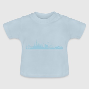 Skyline Hamburg | Hanseatic city - Baby T-Shirt