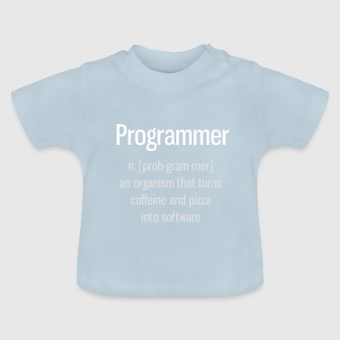 Programmierer Informatik Definition Pizza pc nerd - Baby T-Shirt