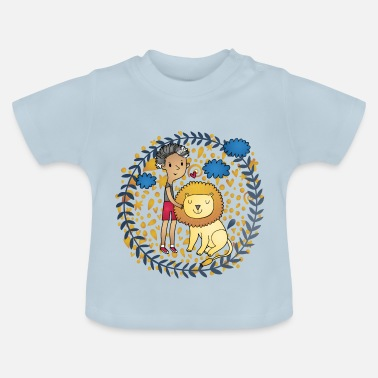 Kids Tijger Lion and kids prachtige Lion Kids - Baby T-shirt