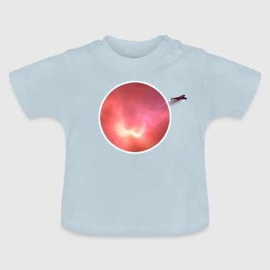Space nebula with rocket - Baby T-Shirt
