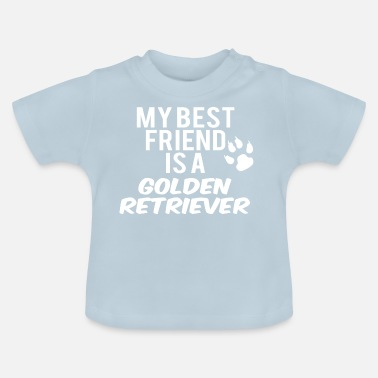 Retriever mijn vriend is een golden retriever - Baby T-shirt