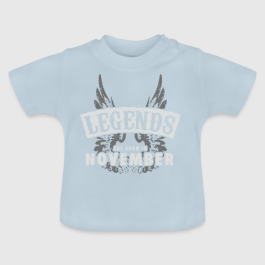 Legends are born in November Wings - Baby T-Shirt