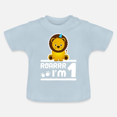 Happy Birthday Lion Zoo Wild animals child birthday boy 1 year - Baby T-Shirt