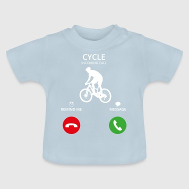 Wielrennen Call Mobile Call wielrennen cyclus - Baby T-shirt