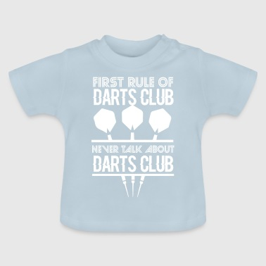 First rule of darts club - Baby T-Shirt