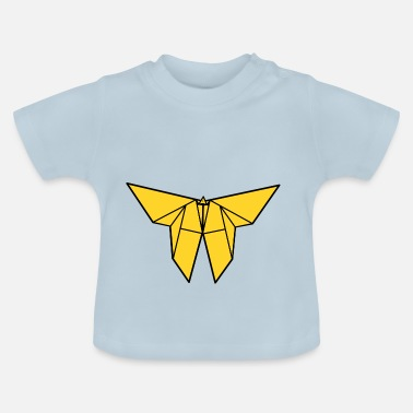 Paper Cutting origami paper plane paper airplane9 - Baby T-Shirt