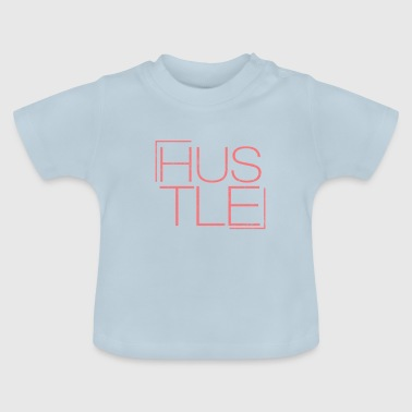 Hustle font | Red font | gift - Baby T-Shirt