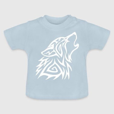 Lobot Tribal Howl White - T-shirt Bébé