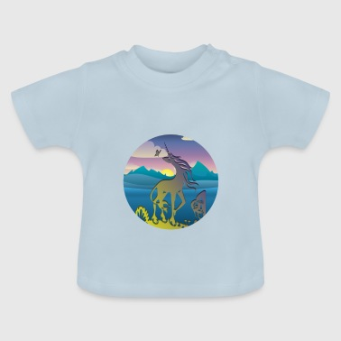 Einhorn stylish - Baby T-Shirt