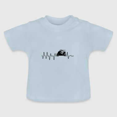 Racing Motorcycle Heartbeat Gift - Baby T-Shirt