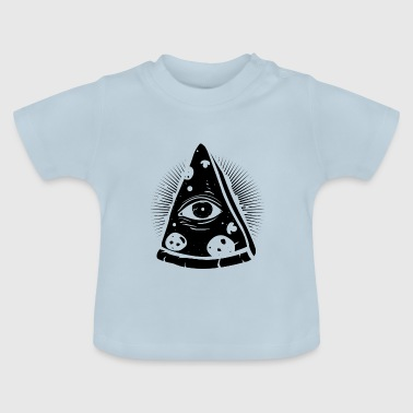 PIZZA ILLUMINATI | LUSTIGES PYRAMIDEN DESIGN IDEE - Baby T-Shirt