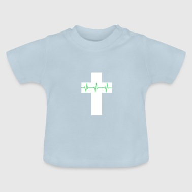 Cross cardiograph cardiography religion heartbeat - Baby T-Shirt
