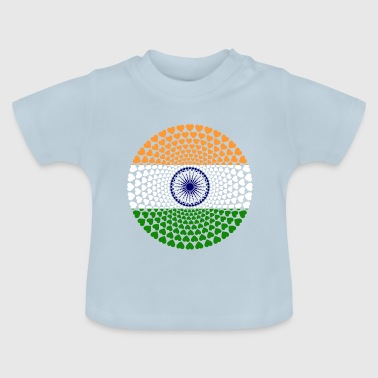 India INDIA Love Heart Mandala - Baby T-shirt