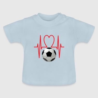 Voetbal hart - Baby T-shirt
