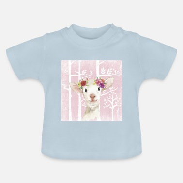 Pink Sheep Forest friends in the pink fairytale forest - The sweet lamb - Baby T-Shirt