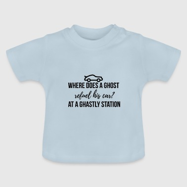 Where does a ghost refuel his car? - Baby T-Shirt