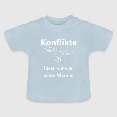 Conflicts we solve with scissors stone paper - Baby T-Shirt