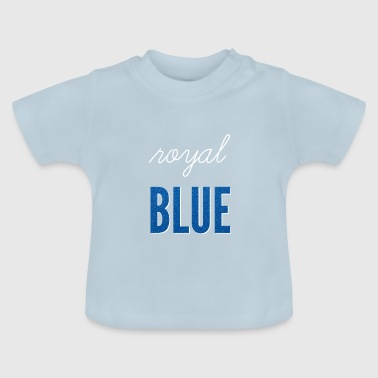 Bleu royal / bleu royal - T-shirt Bébé