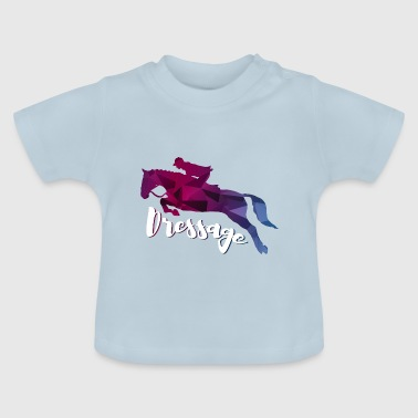 dressage horse colorful gift idea - Baby T-Shirt