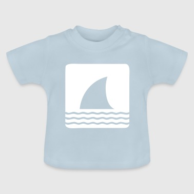 Shark shark fin shark fin waves sea - Baby T-Shirt
