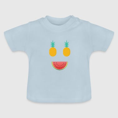 Obstgesicht Ananas Melone - Baby T-Shirt
