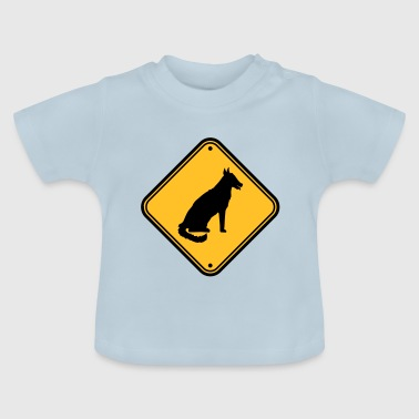 avertissement attention attention danger attention - T-shirt Bébé