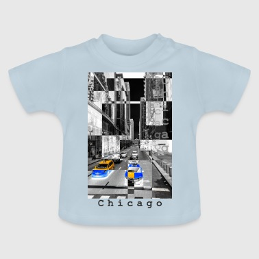 négatif monochrome Chicago - T-shirt Bébé
