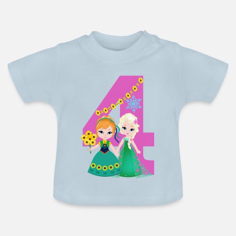 Baby T ShirtBirthday Number 4 Frozen Elsa Girl