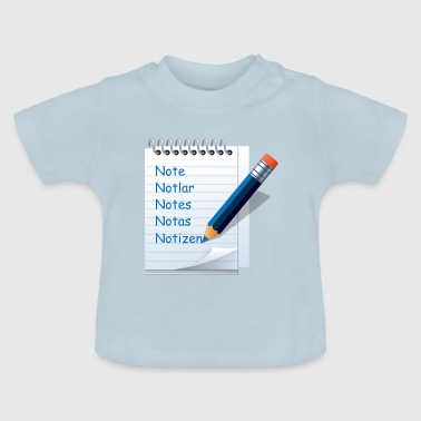 Notiz Notizen - Baby T-Shirt