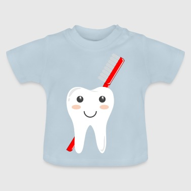 Tooth with toothbrush peg - Baby T-Shirt