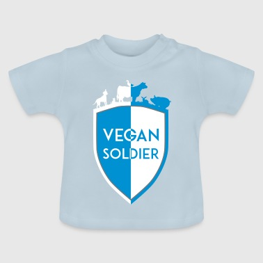 VEGAN SOLDIER SHIELD DIVISION - Baby T-Shirt