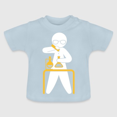 Un scientifique tenant un tube d'essai - T-shirt Bébé