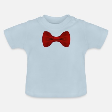 Red Tie Plain Red Bow Tie - Baby T-Shirt