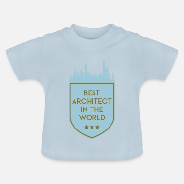 Shield MEILLEUR ARCHITECT DANS LE MONDE SHIELD - T-shirt Bébé