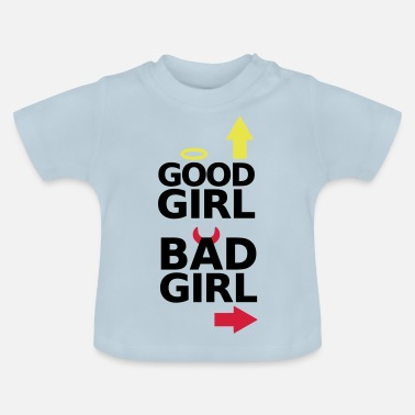 Twins Funny Best girlfriends partner look good bad girl - Baby T-Shirt