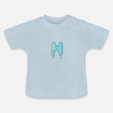 Monsters Letter Funny monster letter N - Baby T-Shirt