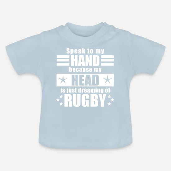 Funny Baby Clothes - Funny funny saying rugby gift - Baby T-Shirt light blue